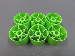 TN-985 YRX12 Front Wheels Green 6pcs