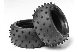 Tamiya RC Wide Stud Spike Tire Set - U53059