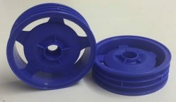 54680 Star-Dish Wheels (Blue) - 2WD Buggy Fro