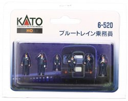 6-520 Blue Train Trainman 6pcs