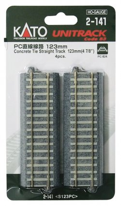 2-141 HO Unitrack PC Straight Line 123mm 4pcs