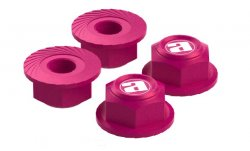 STR216PI Center Cap Aluminum Wheel Nuts (Pink / 4pcs)