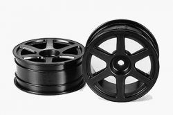 Tamiya RC Med Narrow Six Spoke Wheels - 2pcs