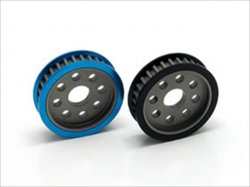 STA-330 Aluminum rear pulley 30T (blue)