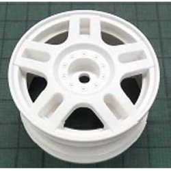 54674 White Split 5-Spoke Wheels - 26mm Width/+2 Offset (4pcs)