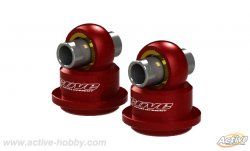 STR236R Pillow Ball Shock Caps Length Adjustment Type 2pcs (Red)