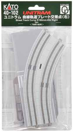 40-102 Unitram Street Track Curved Plate R180
