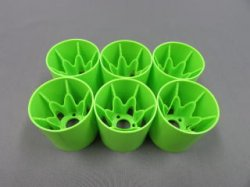 TN-989 YRX12 Rear Wheels Green 6pcs