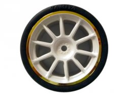 84254 Medium Narrow 10 Sp Wheels - White & Gold Rims/0