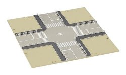 23-413 DioTown 4-Way Intersection Road Plates