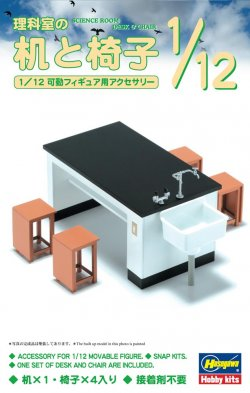 1/12 Desk & Chair of Science Room