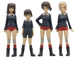 [Girls und Panzer] Duck Team Figure Set