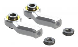 STR220S Aluminum Steering Rod End Silver