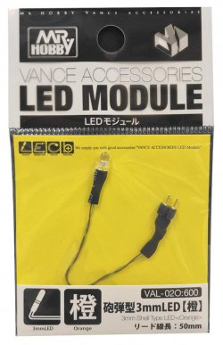 Vance Accessories Bullet-shaped 3mm LED Orang