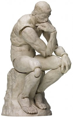 figma The Thinker Plaster Version
