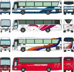 The Bus Collection Phoenix-go 30th Anniversary (4 Cars Set)