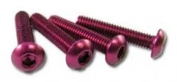 NAR-320PK Button Head Screw 3x20mm Pink