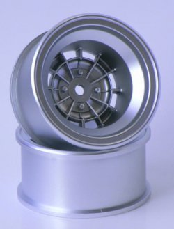 SPA-776 TS Type Wheel Matte Silver 12mm Offset (2 piece)