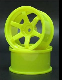 SPKV-008 6-Spoke Yellow 8mm Off-Set