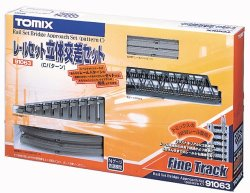 91063 Fine Track Rail Set Bridge Approach Set