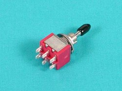 6P Toggle Switch - Self-Neutral Function