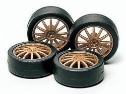 JR LH Tire/Wheel Set (Fin)