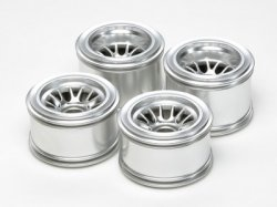 RC Metal Plated Mesh Wheels - F104 For Rubber Tires (F/R)