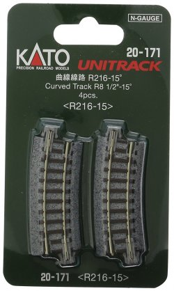 20-171 Unitrack Curved Track R216-15 degree R