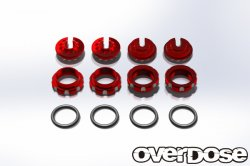 OD1723 Aluminum Adjustment Nut and Spring End Set (Red)