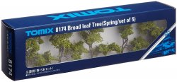 Broad Leaf Tree Spring Set of 5