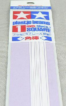 70173 Plastic Beams 1mm Square 10pcs