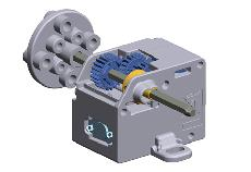 9 Mini Motor Low Speed Gearbox - 4-Speed