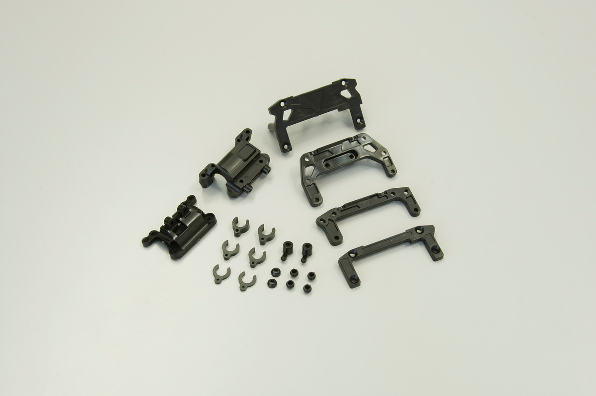 Mdw100 rear double wishbone suspension set banzai hobby for Suspension double