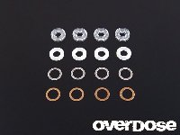 OD1169 Shock oil seal set (X Rings, Shaft Guides, Shims)